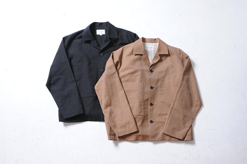 STILL BY HAND/BL01211/Wool Linen Coverall