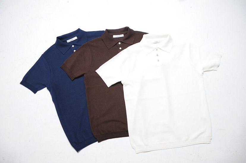 FUJITO/WF1-K14/KNIT POLO SHIRT
