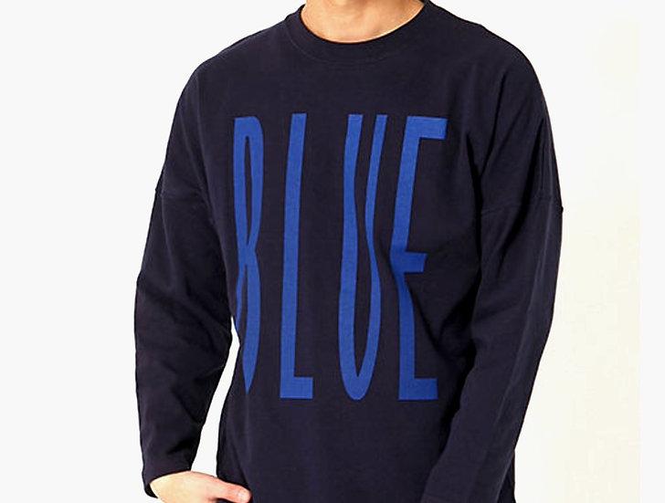 RUSSELL・BLUE BLUE/700079733/トールロゴ フットボール Tシャツ