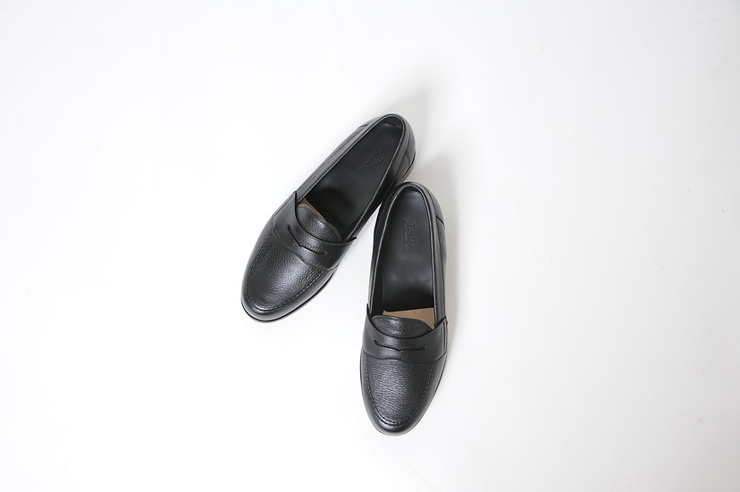 BARKER/Deerskin leather loafers