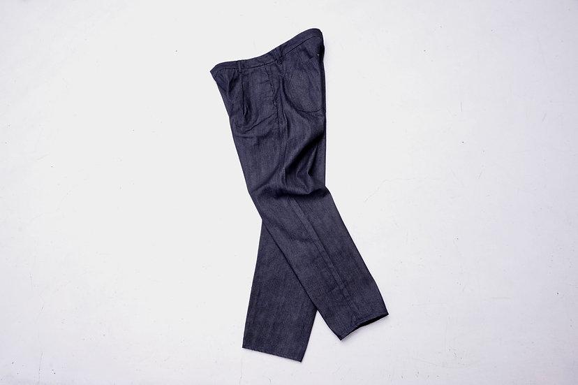 still by hand/DN0393/Denim slacks