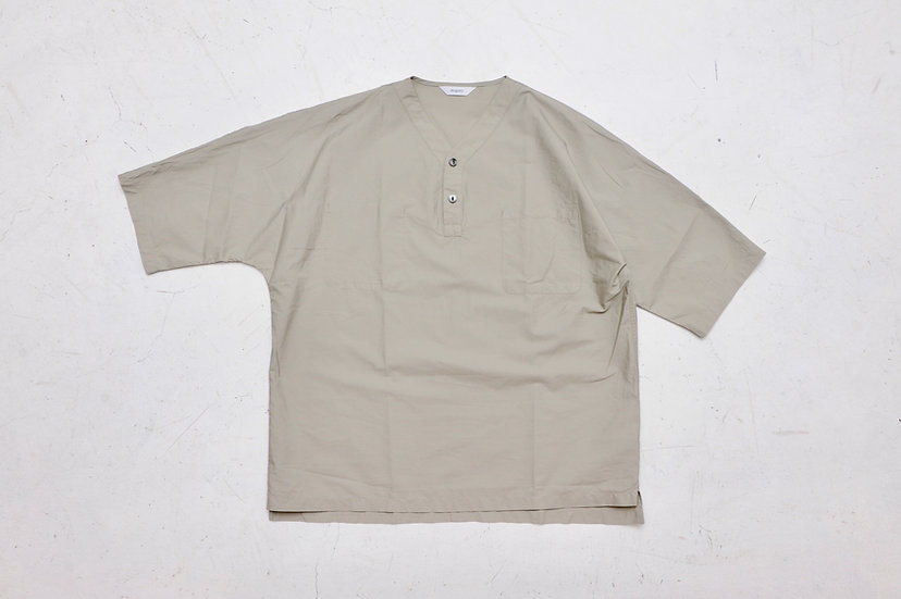 FUJITO/WF1-S47/Henley Neck Shirt