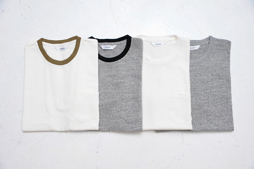 FUJITO/WF1-C30/C/N pocket T-shirt