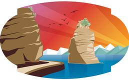 Sea-to-Sky Swinger - Custom Illustrations