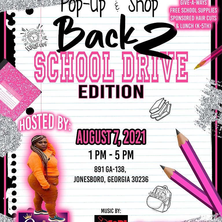 Pop Up & Shop Back 2 School Drive Edition