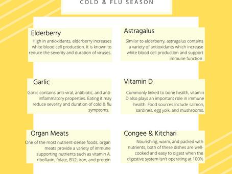 Immune-Boosting Foods for Cold & Flu Season
