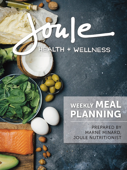 One Week Meal Plan - Please call to order by phone!