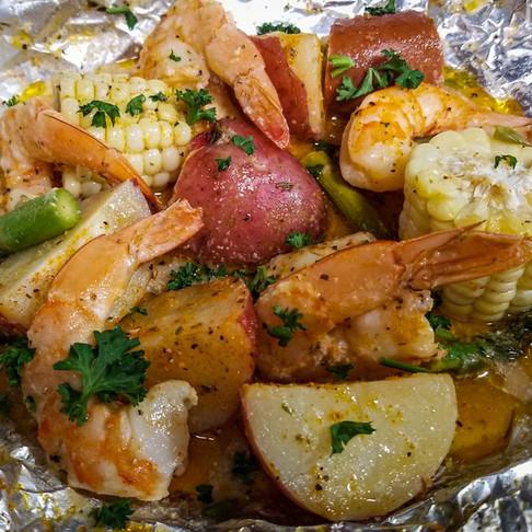 Shrimp Boil Packets - Easy Seafood Boil