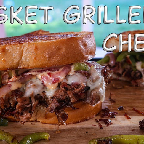 Brisket Grilled Cheese with Chipotle sauce