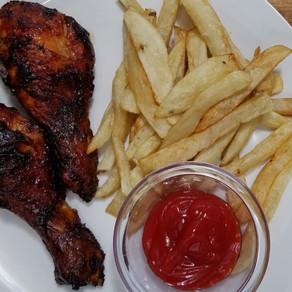 Air Fryer BBQ Chicken Legs