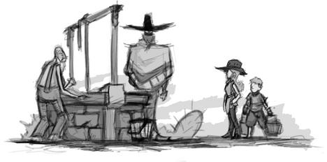 """Sun-Cursed"" Story Illustration 3"