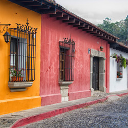 Houses in Antigua and towns