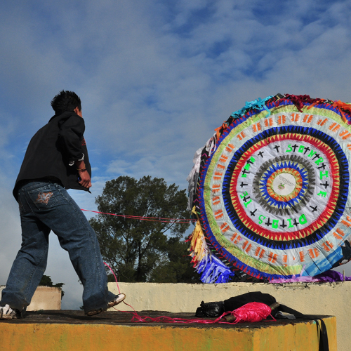 Folkloric giant kite