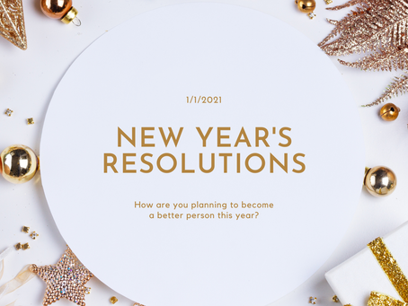 2021 New Year's Resolutions?