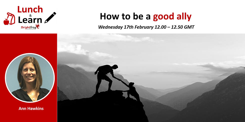 Lunch and Learn 3 : How to be a good ally