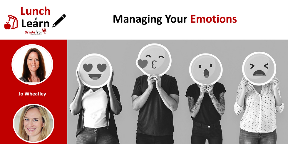 Lunch and Learn 2 : Managing Your Emotions