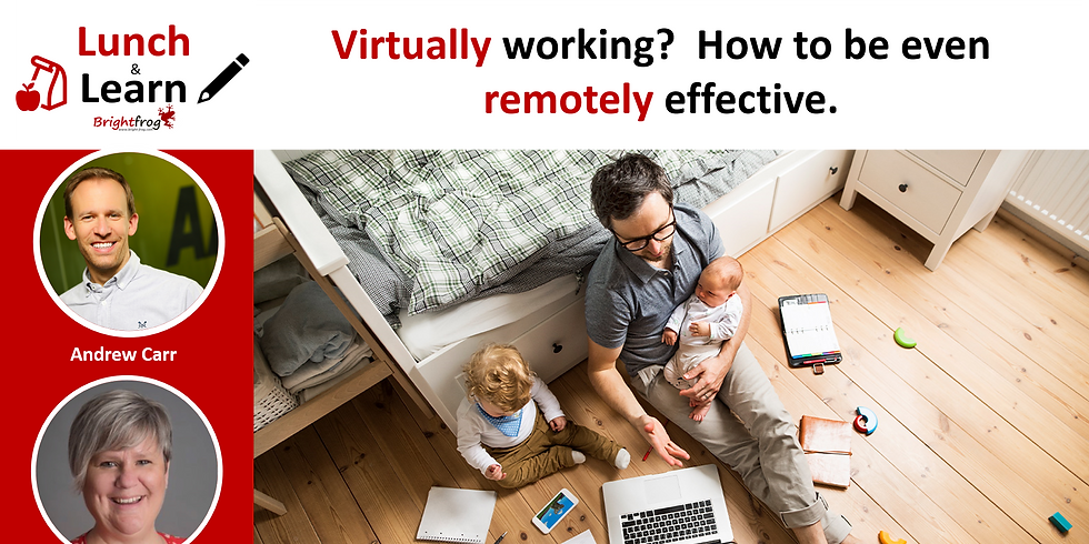 Lunch and Learn 1 : Virtually working?  How to be even remotely effective