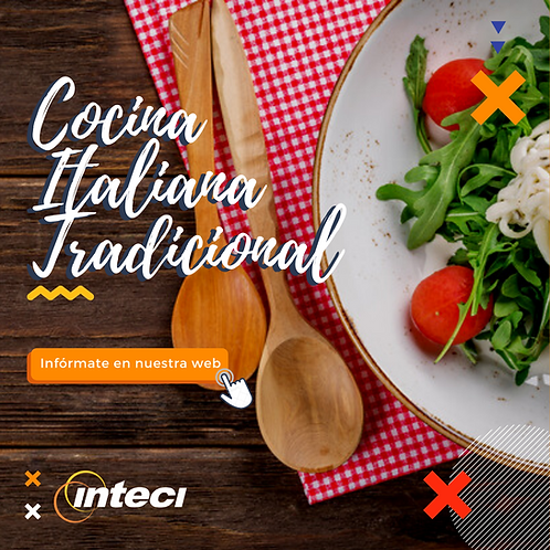 Cocina Italiana Tradicional - 5 sesiones - Grupo Norte: 15 Feb / Sur: 15 Feb