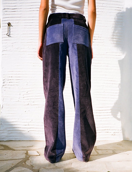 ÉOLA CORDUROY PANTS  bicolor purple