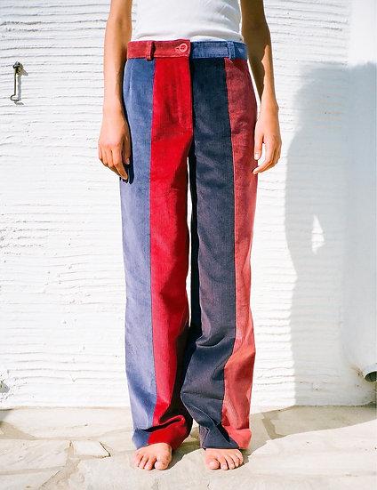 ÉOLA CORDUROY PANTS quadricolor