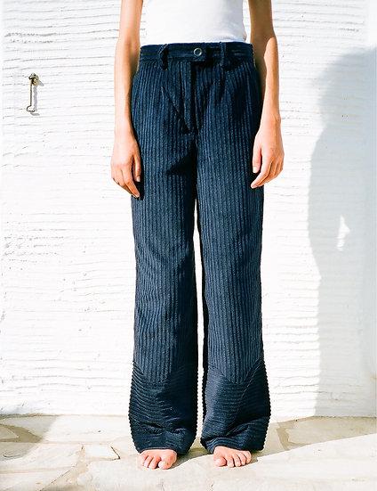 TINOS CORDUROY PANTS dark blue