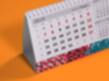 Настольный календарь со стандартными блоками