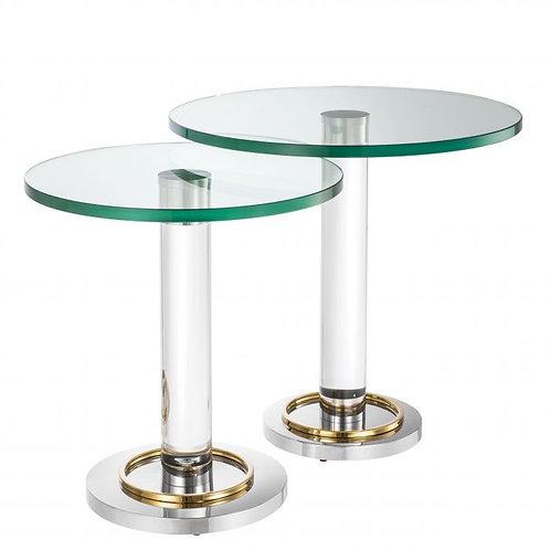 Staliukai, metaliniai, stikliniai 2vnt.