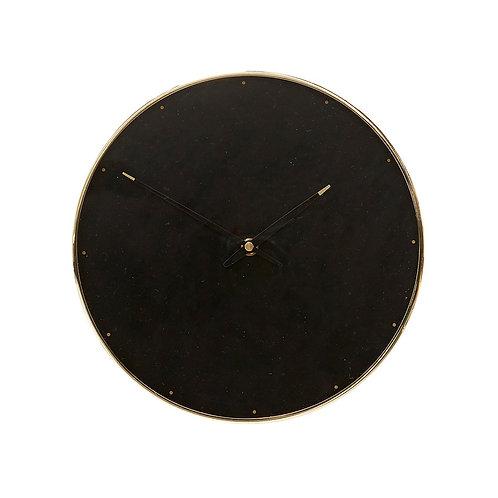Laikrodis, metalinis, žalvarinis, juodas