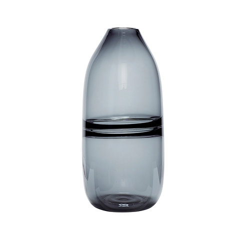 Vaza, stiklinė, pilka