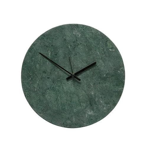 Laikrodis, marmurinis, žalias