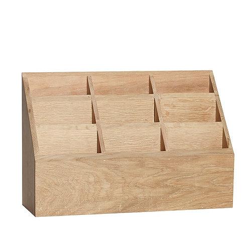Dėžutė su skyreliais, ąžuolinė