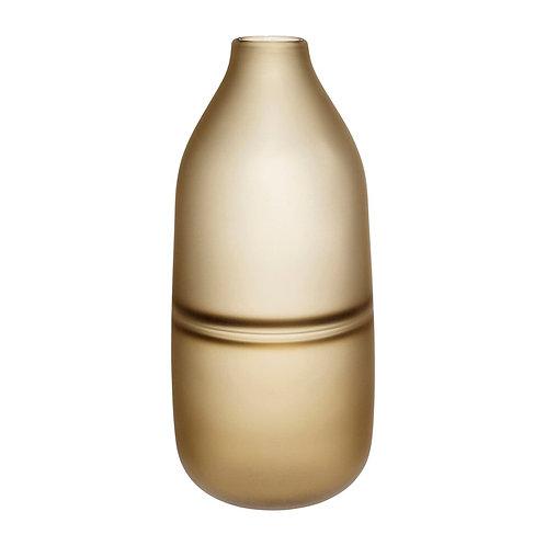 Vaza, stiklinė, ruda
