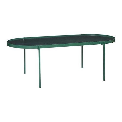 Stalas, metalinis, stiklinis, žalias