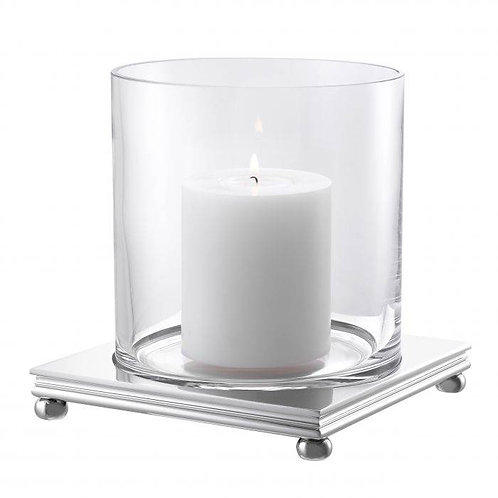 Žvakidė, varinė, stiklinė