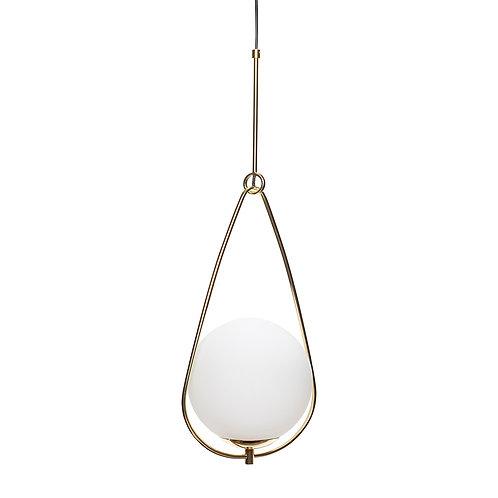 Pakabinamas šviestuvas, stiklinis, metalinis