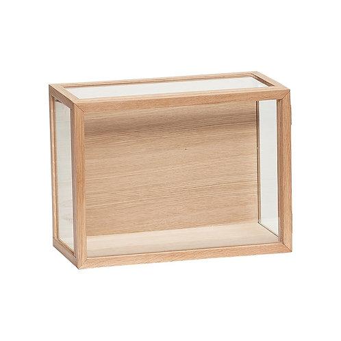 Dėžutė, ąžuolinė, stiklinė