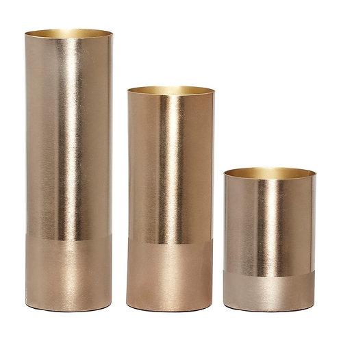 Vazos, metalinės, žalvarinės 3vnt.