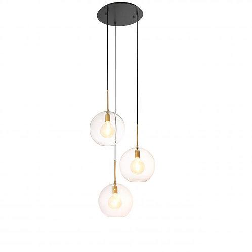 Pakabinamas šviestuvas, žalvarinis, stiklinis