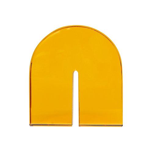 Knygų atramėlė, stiklinė, geltona