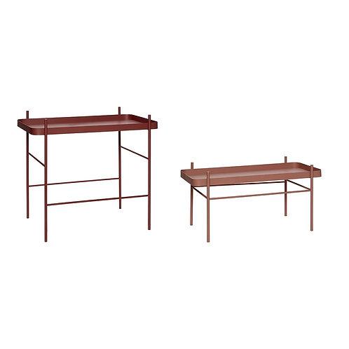 Stalai, metaliniai, raudoni 2vnt.