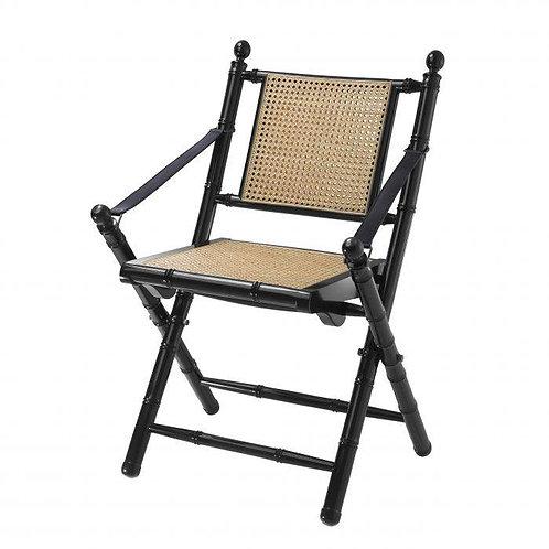 Kėdė iš rotango, metalinė