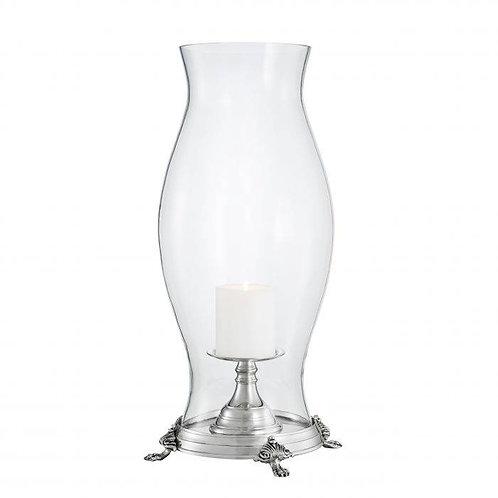 Žvakidė, metalinė, stiklinė