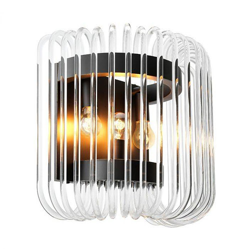 Pakabinamas šviestuvas, metalinis, stiklinis