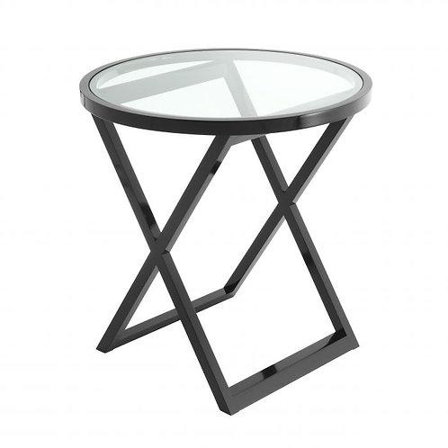 Staliukas, metalinis, stiklinis, juodas