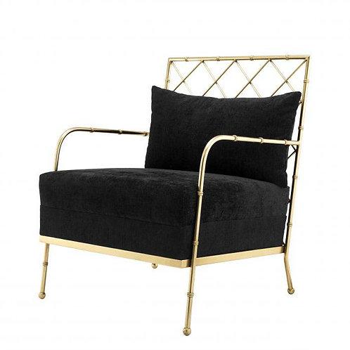 Kėdė, žalvarinė, velvetinė