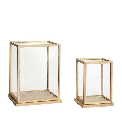 Stiklinė dėžutė, stiklinė, žalvarinė