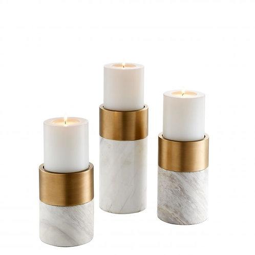 Žvakidės, žalvarinės, marmurinės 3vnt.