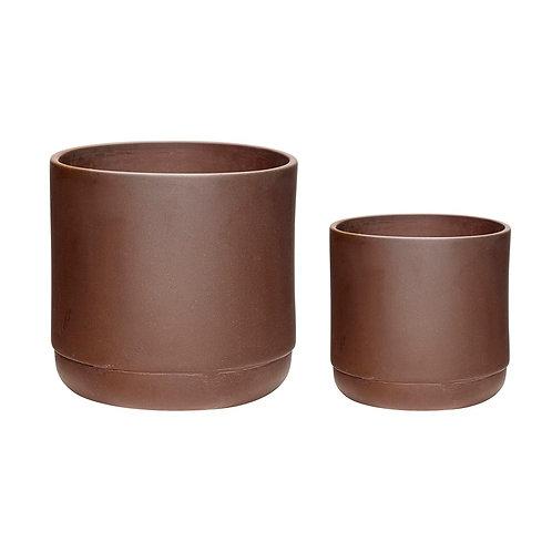 Vazonai, keramikiniai, bordo 2vnt.