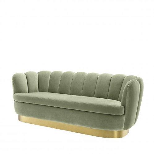 Sofa, velvetinė, žalvarinė