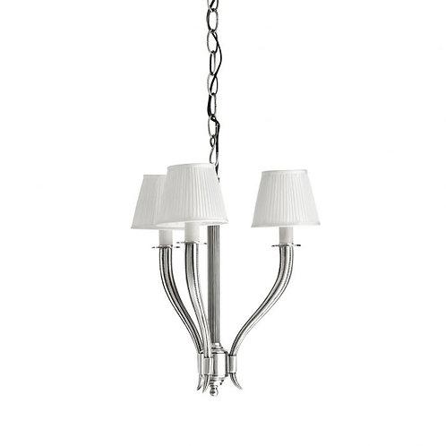 Pakabinamas šviestuvas, metalinis, sidabrinis